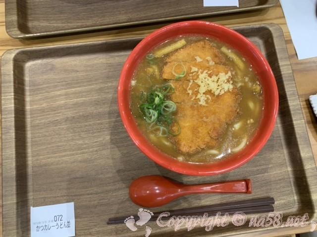 「道の駅とよはし」愛知県豊橋市、土産・物産「トマッテ」にある「つるあん」のカツカレーうどん並