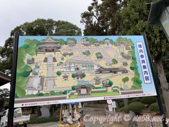 豊川稲荷(愛知県豊川市)の参拝順路マップ
