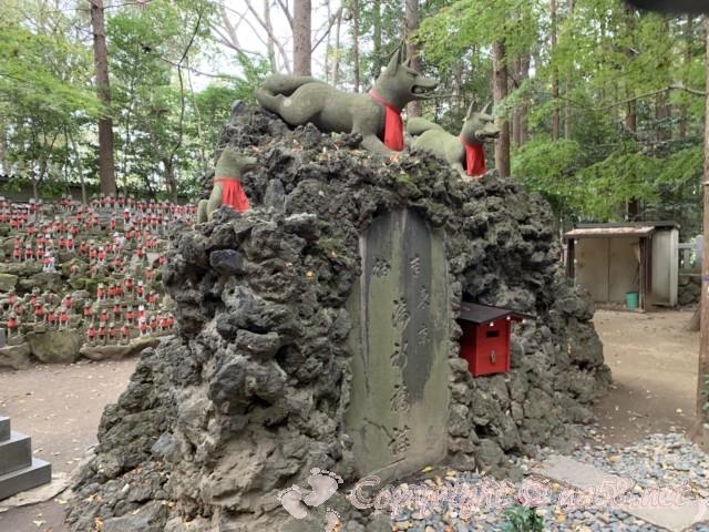 豊川稲荷(愛知県豊川市)きつね塚の霊狐
