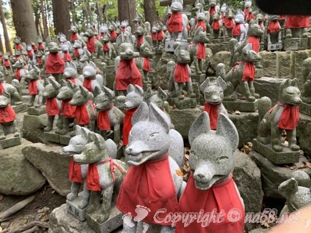 豊川稲荷(愛知県豊川市)きつね塚の狐の石像の数々