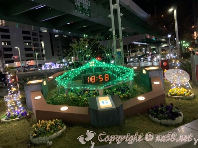 柳橋交差点のクリスマスイルミネーション