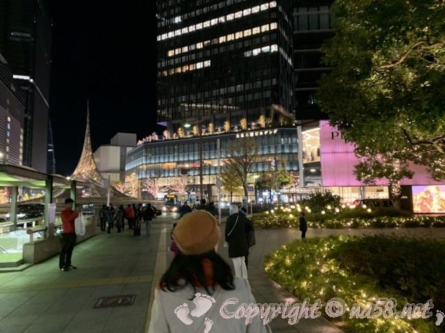 名古屋、大名古屋ビルヂングのクリスマスイルミネーション(名古屋駅前)