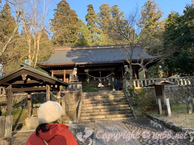 光秀お手植えの楓がある八王子神社(岐阜県恵那市明智町)本殿