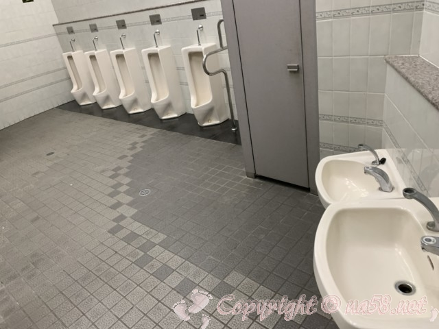 「道の駅 土岐美濃焼街道 どんぶり会館」(岐阜県土岐市)の男子トイレ