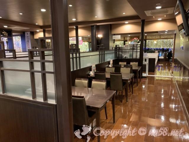 湯の華温泉の食事処「湯の華亭」室内レストラン(岐阜県可児市)