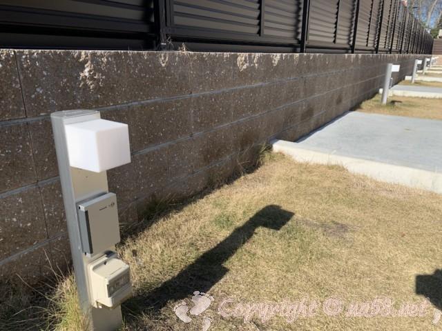 湯の華アイランドのRVキャンプ場(岐阜県可児市)の電源設備