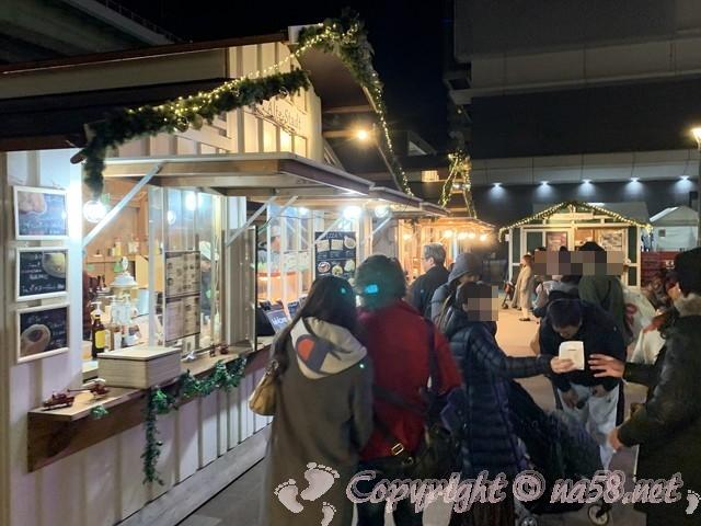 名古屋笹島「グローバルゲート」クリスマスイルミネーション、飲食店も