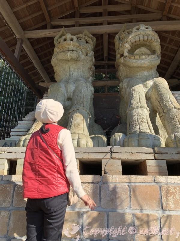 世界一(日本一)の狛犬(こまいぬ)岐阜県瑞浪市