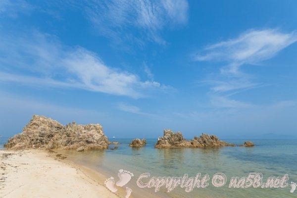 海・海岸の風景・青空