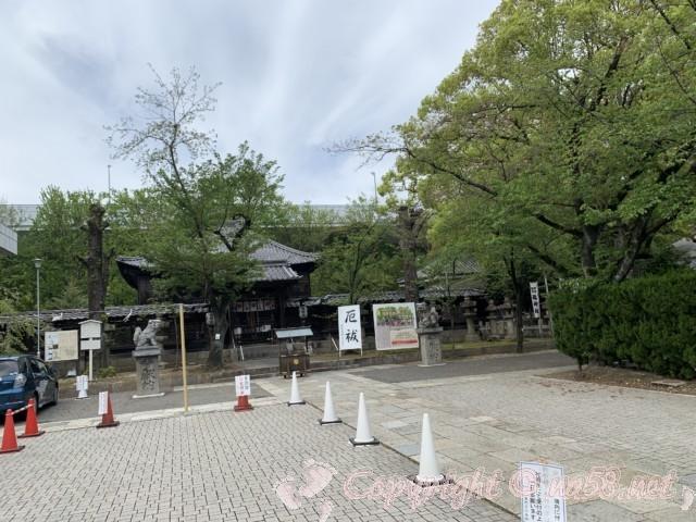 「名古屋東照宮」(名古屋市中区)の参拝者用駐車場