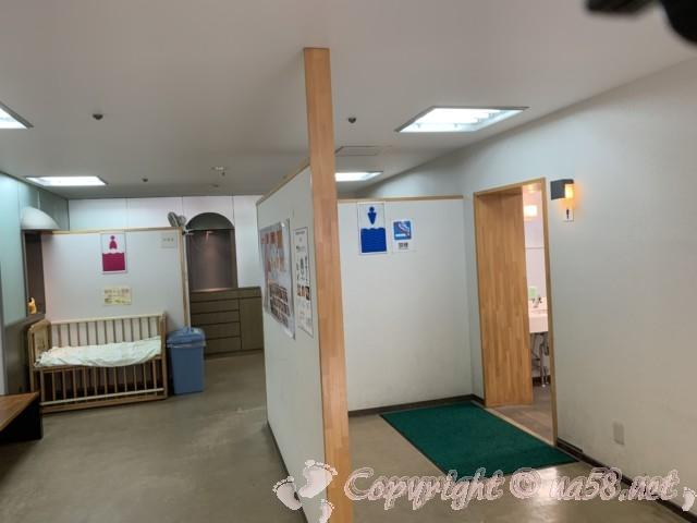 「伊勢シーパラダイス」三重県伊勢市二見の一階トイレきれい