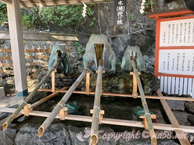 「二見興玉神社」の手水舎(三重県伊勢市)