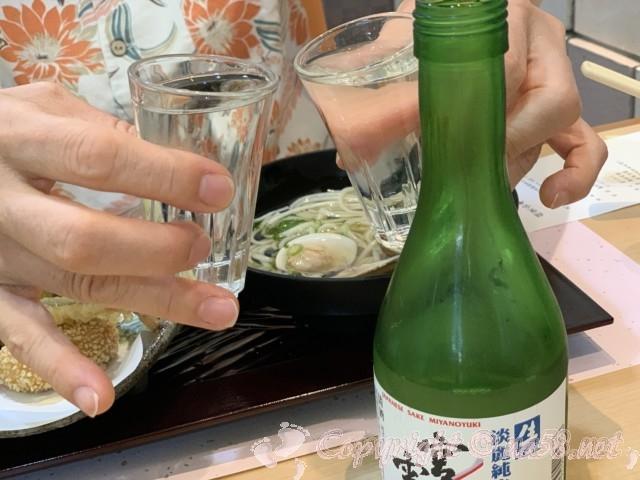 「ニューハートピア温泉ホテル長島」揖斐会席の夕食に日本酒