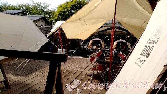 名古屋城BBQパーク 会場のテントや設備