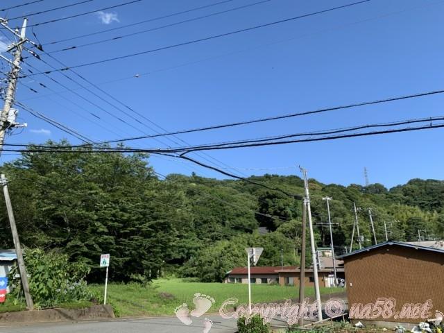 「かんなみ仏の里美術館」(静岡県函南町)桑原薬師堂方向の風景