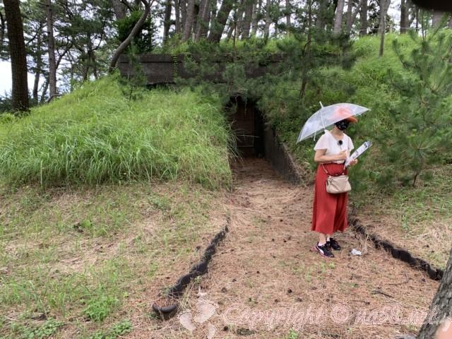 沼津御用邸記念公園(静岡県沼津市)の名所スポット、防空壕あと