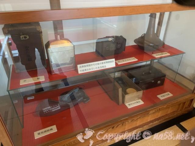 沼津御用邸記念公園内の「西付属邸」で使われていた生活用品