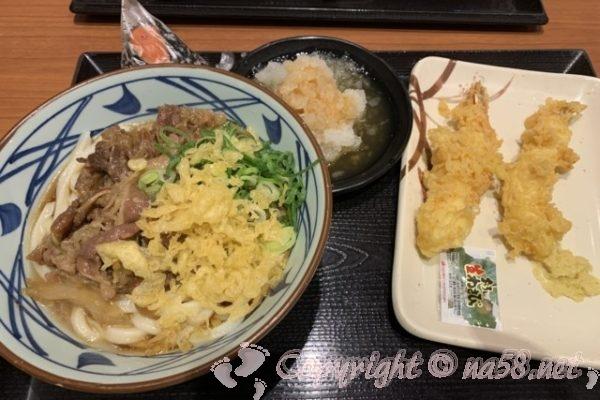 「丸亀製麺」沼津下香貫店 ランチで 鬼オロシ肉ぶっかけ並
