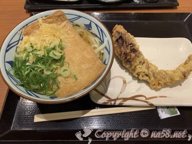 「丸亀製麺」沼津下香貫店 きつね並とゲソ天