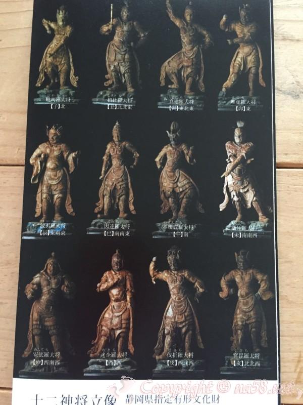 「かんなみ仏の里美術館」の十二神将立像(パンフレットより)