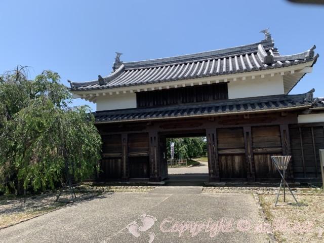 鍮石門(ちゅうじゃくもん)西尾市歴史公園(愛知県西尾市)二の丸御殿の表門