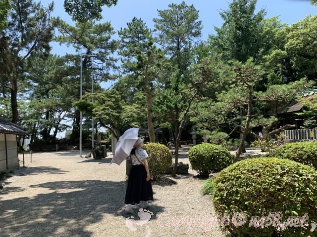 西尾市歴史公園(愛知県西尾市)旧近衛邸付近