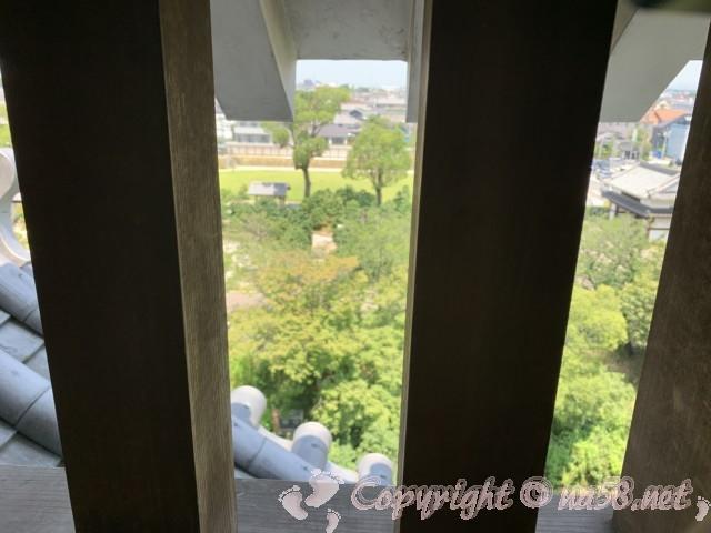 西尾市歴史公園(愛知県西尾市)西尾城の丑寅櫓最上部からの展望