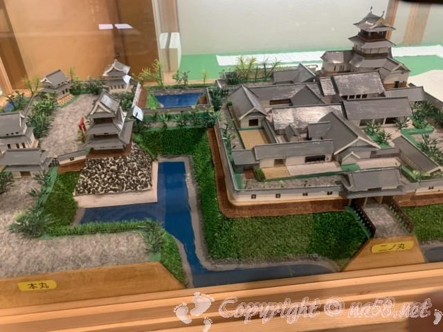 西尾城本丸・二の丸推定復元模型