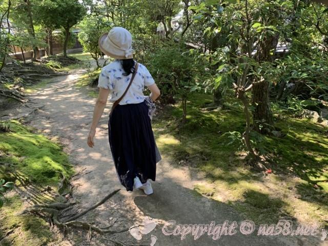 「尚古荘」の日本庭園の小径を散策