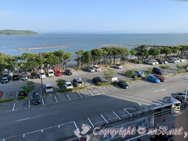 渚のリゾート「竜宮ホテル」(愛知県西尾市吉良町)の四階客室からの景色オーシャンビュー