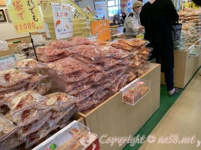 「一色さかな広場」(愛知県西尾市一色町)名物えびせんべいの店