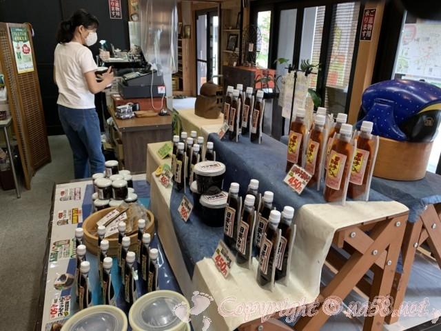 味噌蔵見学、はと屋みそパーク(愛知県西尾市)、直売所「蔵売店」店内