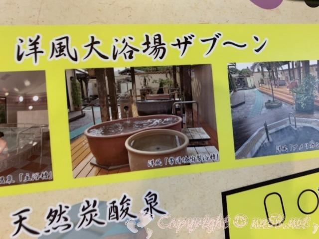 JAあぐりタウンげんきの郷(愛知県大府市)のめぐみの湯、洋風大浴場ザブ~ン
