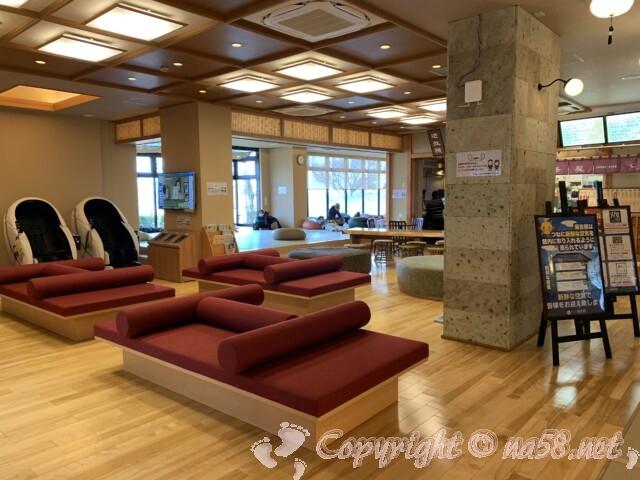 「湯のや 天然温泉 湯吉郎」愛知県清須市 広い休憩所