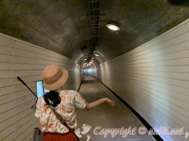 世界遺産・五箇山合掌造り集落(富山県)総合案内所・五箇山合掌の里からの道のりトンネル