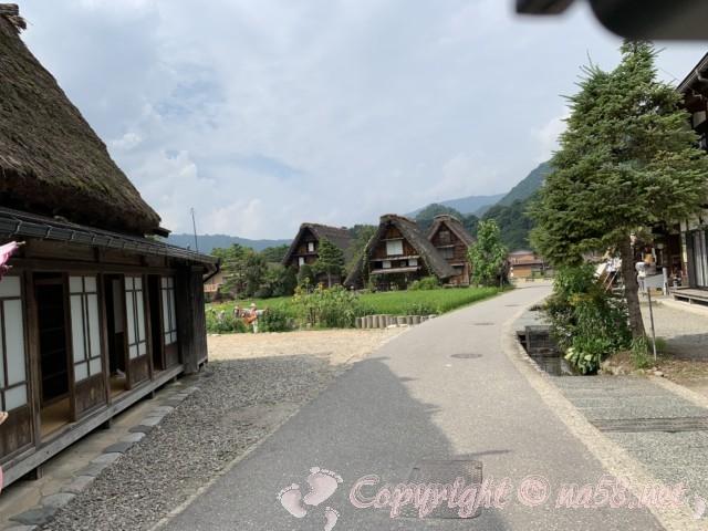 「萩町合掌造り集落」(岐阜県白川村)田と合掌造りの家