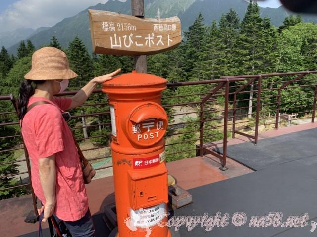 新穂高ロープウェイ(岐阜県高山市)の頂上、展望台、ポスト