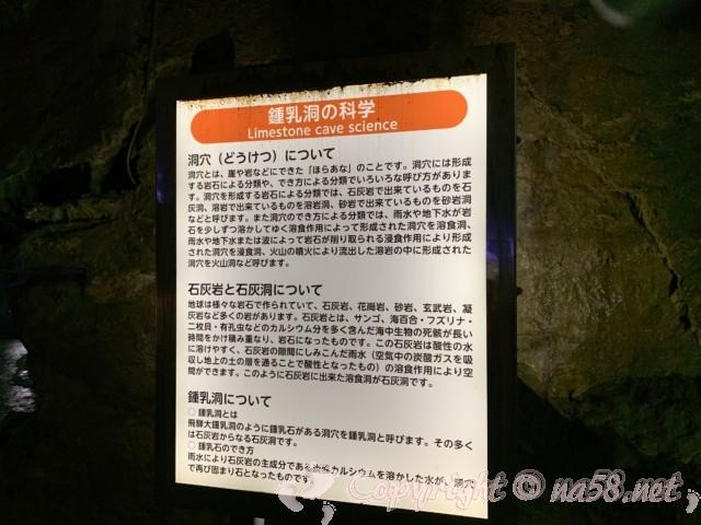 「飛騨大鍾乳洞」岐阜県高山市・鍾乳洞の中・鍾乳洞解説