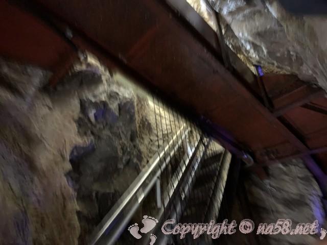 「飛騨大鍾乳洞」岐阜県高山市・鍾乳洞の中、急坂と急階段