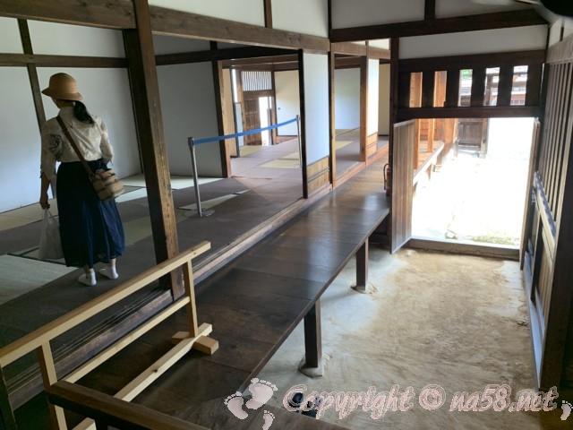 高山陣屋(岐阜県高山市)床土間、通用門など