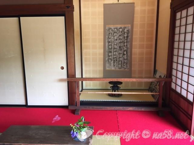 高山陣屋(岐阜県高山市)庭の見える居間