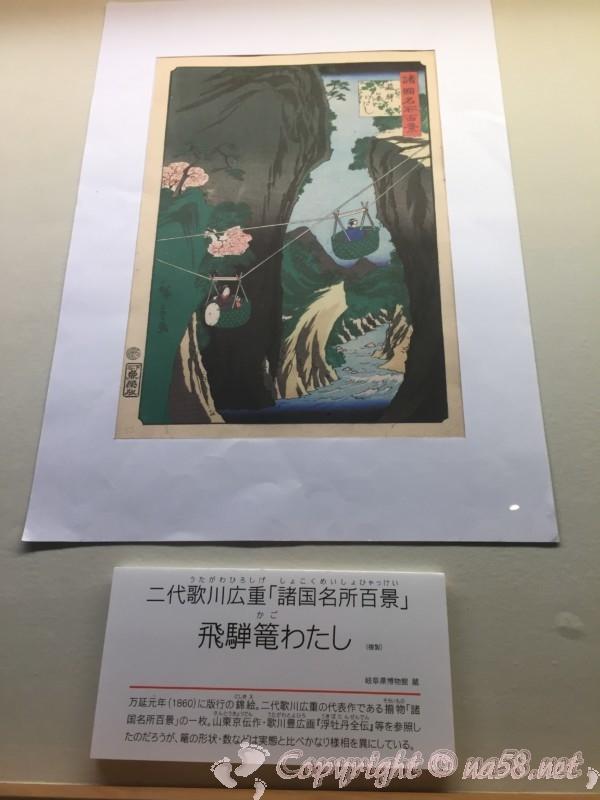 高山陣屋(岐阜県高山市)御蔵の中の資料 飛騨のかごわたし