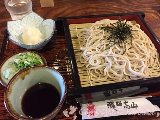 高山古い街並み保存地区(岐阜県高山市)散策でランチ食事 のがわさんでおろし付きざるそば