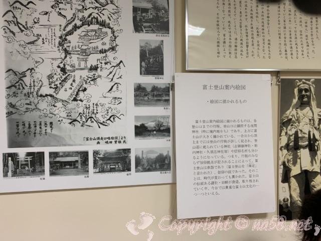「道の駅すばしり」(静岡県小山町)富士登山案内絵図