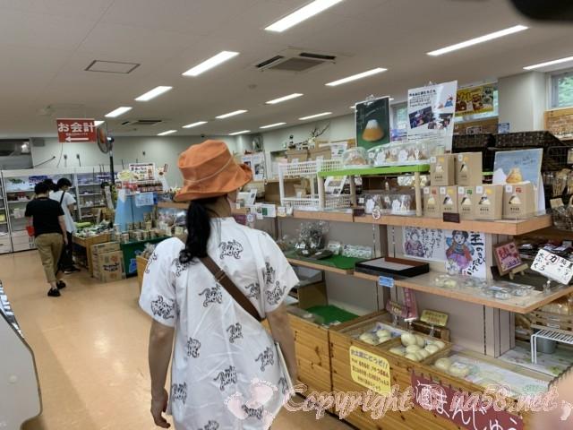 「道の駅富士吉田」(山梨県富士吉田市)富士山伏流水を使用して作る饅頭