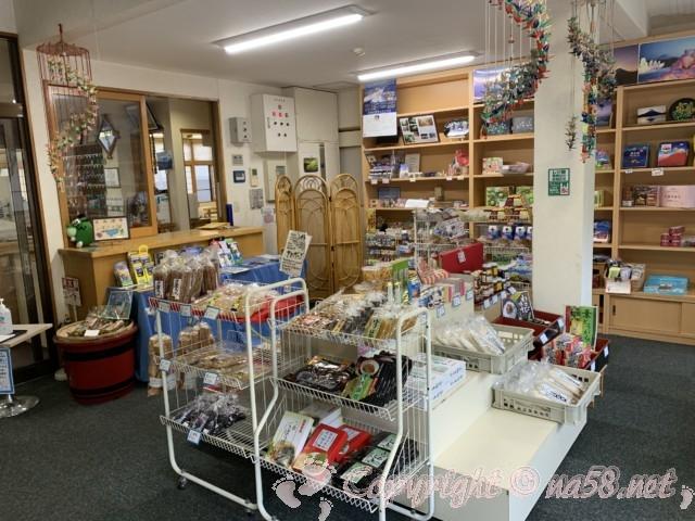 「いずみの湯」山梨県富士河口湖町 お土産コーナー