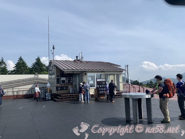 新穂高ロープウェイ(岐阜県高山市)の頂上、展望台