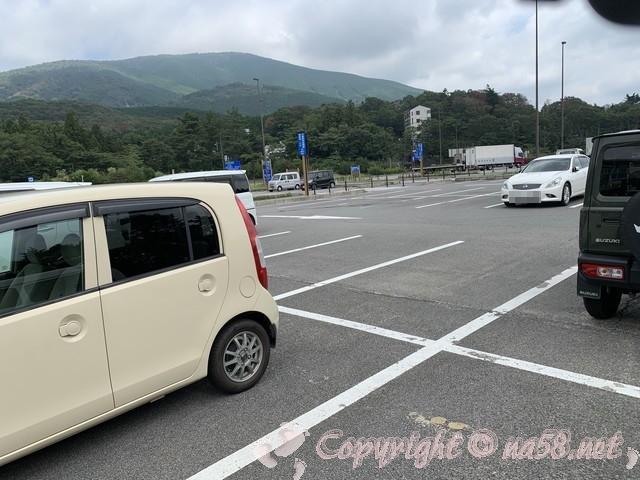 「道の駅すばしり」(静岡県小山町)広々した駐車場