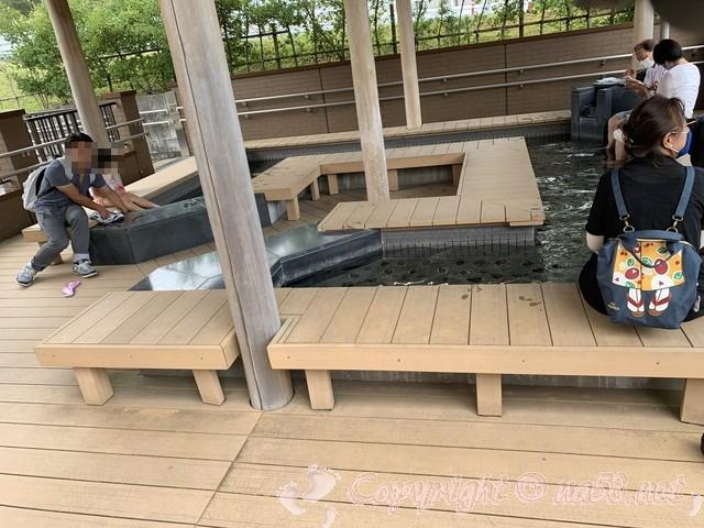「道の駅すばしり」(静岡県小山町)足湯すばしりからは富士山が見える