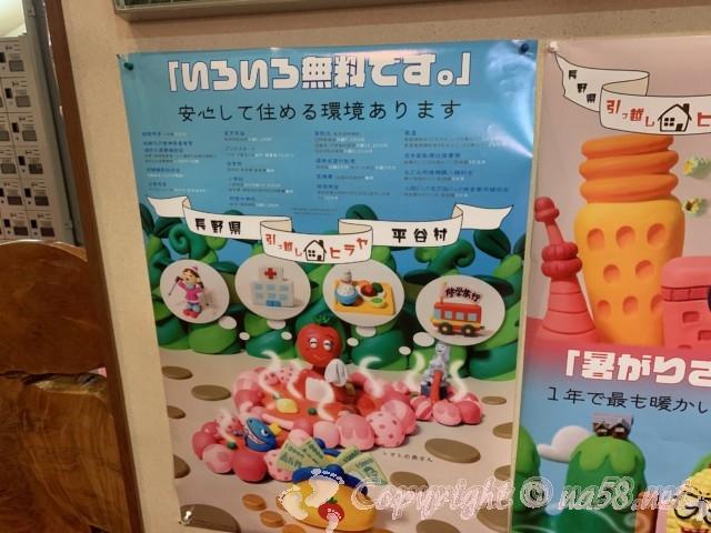 長野県平谷村 移住受け入れ手厚い補助あり ポスター